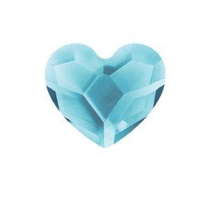 Origami Owl Aqua Marine Heart Swarovski Crystal